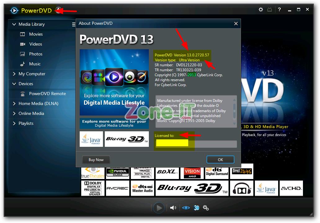 028 CyberLink PowerDVD 2013 Ultra v13.0.2720.57 ตัวเต็มลงแล้วไม่ต้อง Crack