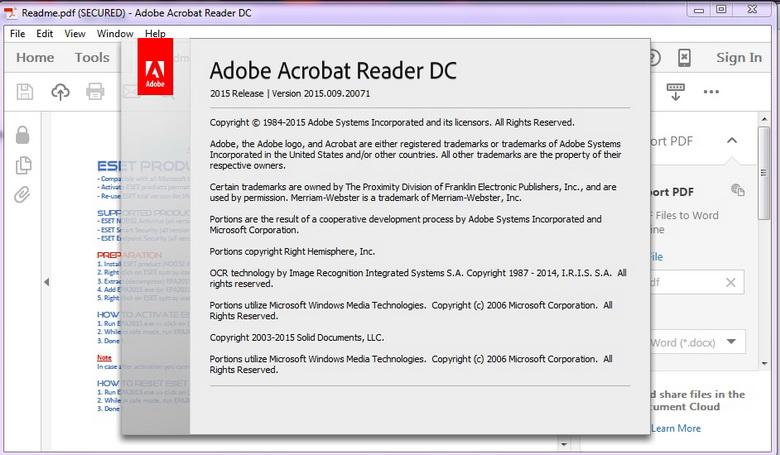 3094 Adobe Acrobat Reader DC 2015 แบบใหม่ดีไซน์สวยขึ้น ขนาดเล็กลง