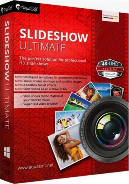 3168 Aquasoft Slideshow Ultimate 10.3 โปรแกรมสร้างวีดีโอจากภาพถ่่าย