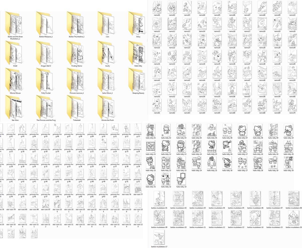 3182 รูปภาพเส้นประ สำหรับเด็กฝึกระบายสี