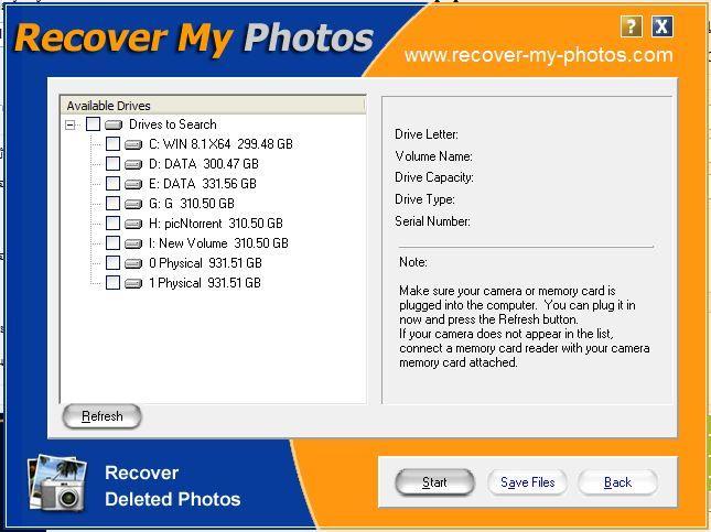 3256 RecoverMyPhotos V2.80 โปรแกรมกู้ภาพที่ถูกลบ