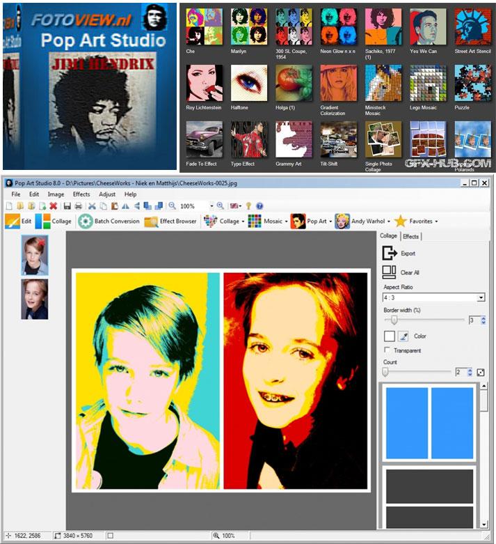 3387 Pop Art Studio 8.1 โปรแกรมสร้างรูปแนว Pop Art แบบง่ายๆ