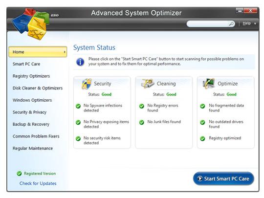 3449 Advanced System Optimizer 3 Window มีปัญหา ตัวเดียวเอาอยู่