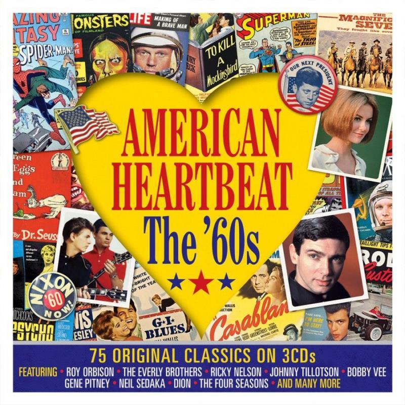 4414 American Heartbeat The 60s 2018 รวมฮิตเคลาสสิคตลอดกาล 3CD IN 1