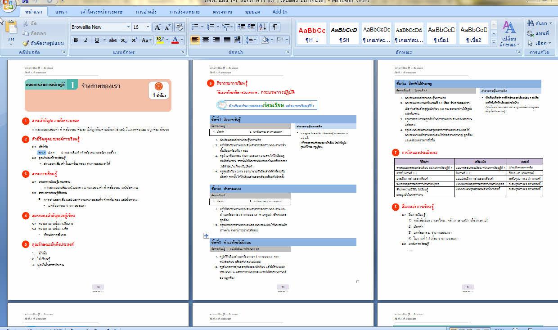 4480 แผนการจัดการเรียนรู้ ทุกกลุ่มสาระ ป.1-6  ตามหลักสูตรแกนกลาง (ไฟล์ word) 6DVD