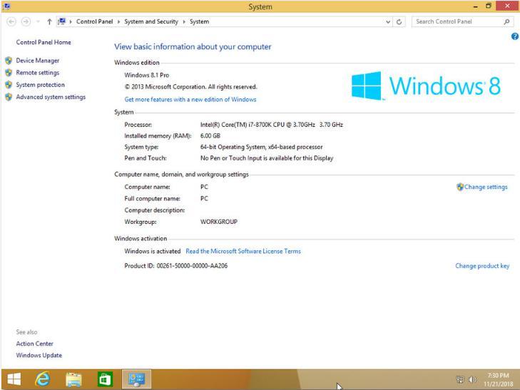 4867 Windows 8.1 PRO X64 3in1 OEM ESD en-US Nov 2018
