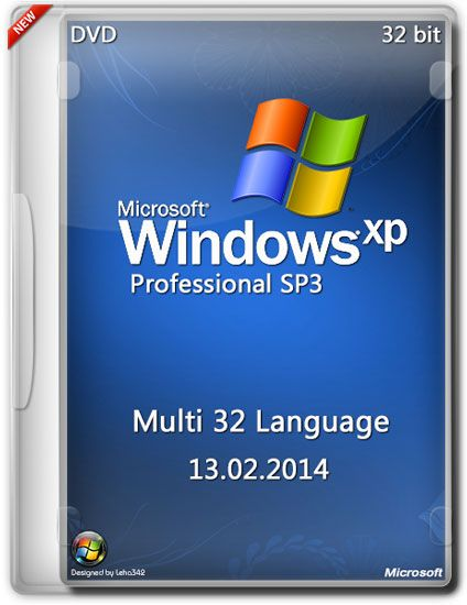 588 Windows XP Professional SP3 x86 Multi 32 Language (13.02.2014)