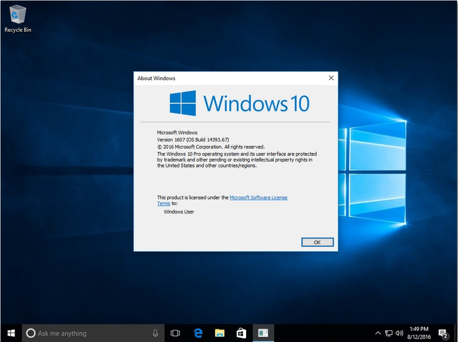 3126 Windows 10 Pro X64 v1607 Build 1493.67 en-US Aug 2016