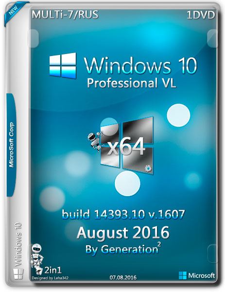 3145 Windows 10 Pro X64 VL build 14393 v1607 MULTi-8 Aug 2016