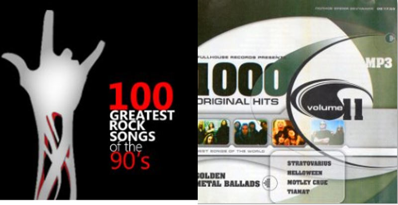 3154 100 Greatest Rock Songs of 90's+1000 Rock Original Hits V.2