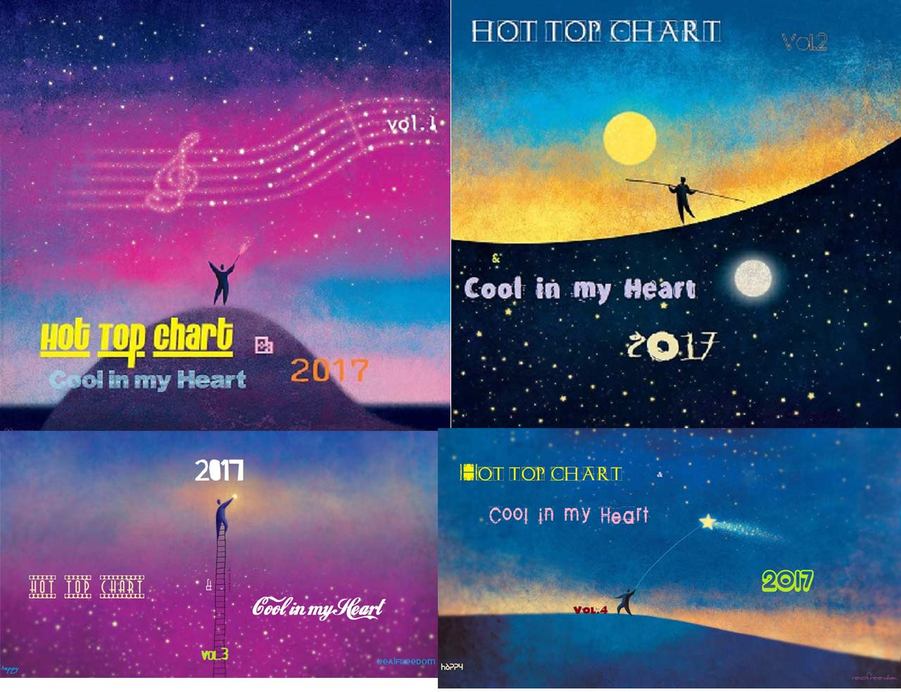 3877 Hot Top Chart & Cool in my Heart 2017 vol.1-2