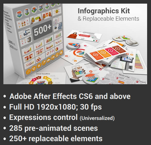 4167 Infographics Kit & Replaceable Elements
