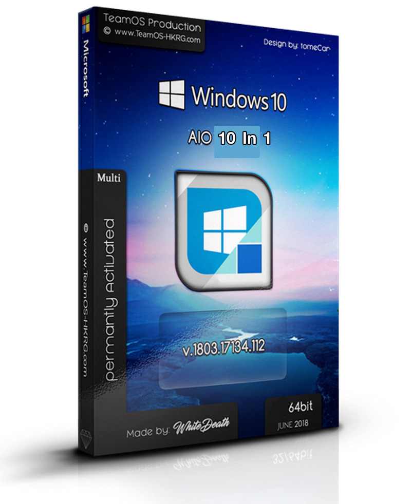 4438 Windows 10 Rs4 1803.17134.112 Aio x64 10in1 multi  Permanently Preactivated June 2018