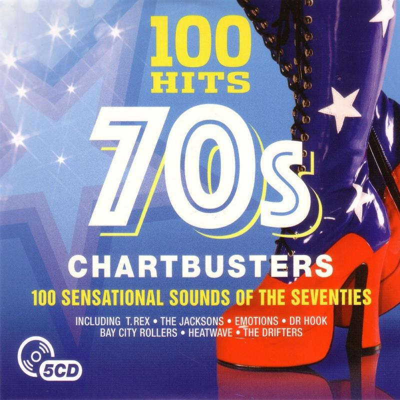 4445 100 Hits 70s Chartbusters 5CD IN 1