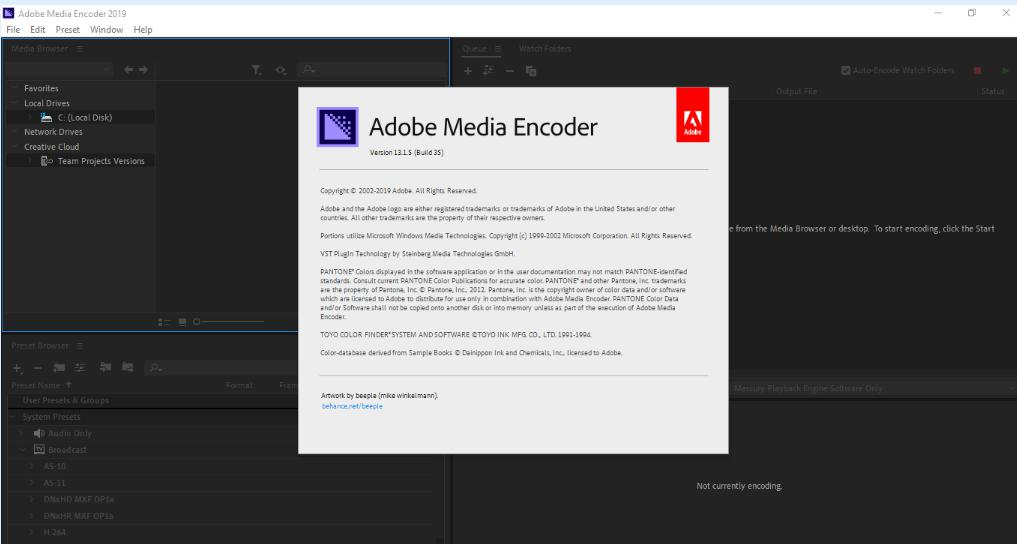 5373 Adobe Media Encoder CC 2019 v13.1.5.35 x64 ไม่ต้อง Crack