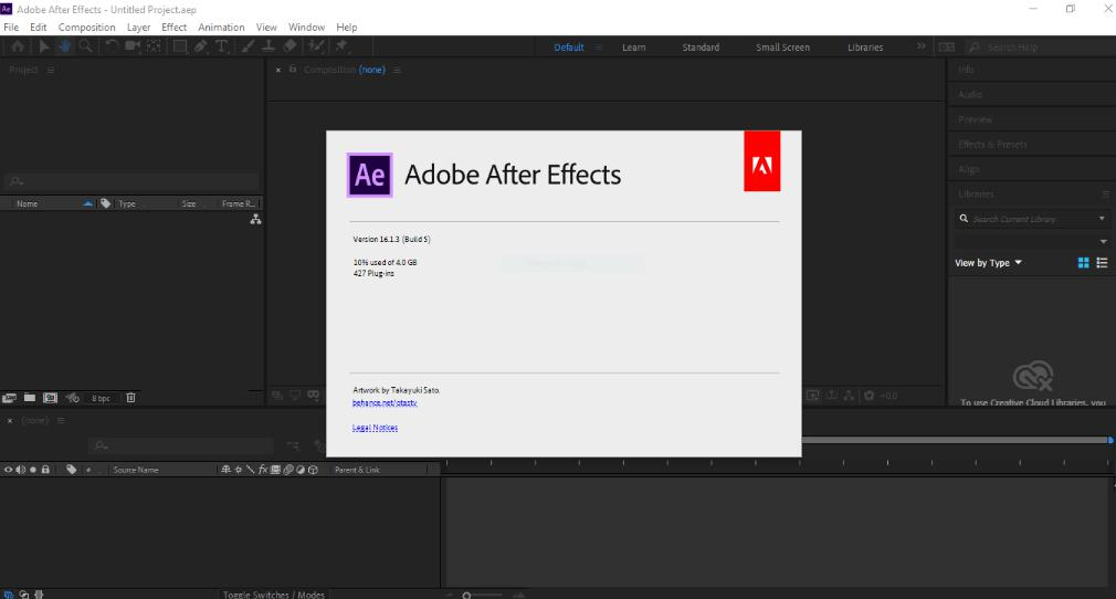 5375 Adobe After Effects 2019 v16.1.3.5 x64 ไม่ต้อง Crack